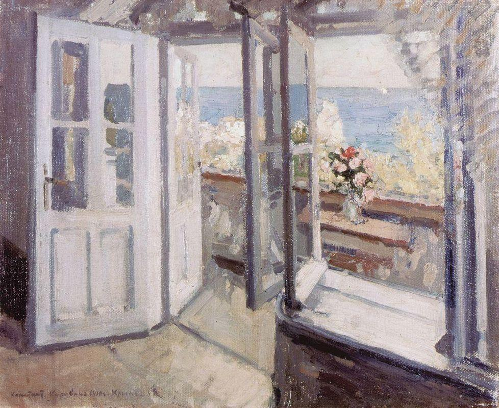 Balcony in the Crimea  - Konstantin Korovin