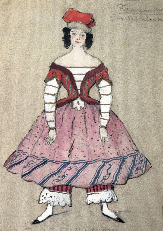 Ballerina. Costume design for Tamara Karsavina - Alexandre Benois