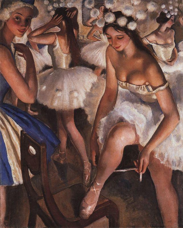 Ballerinas in the dressing room - Zinaida Serebriakova