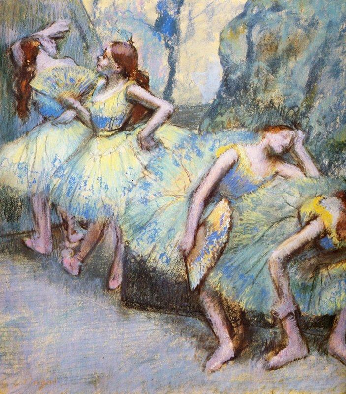 Ballet Dancers in the Wings - Edgar Degas
