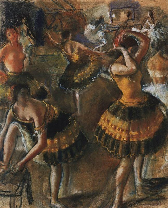 Ballet dancers in their dressing room - Zinaida Serebriakova