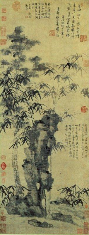 Bamboo, and Elegant Stone - Ni Zan