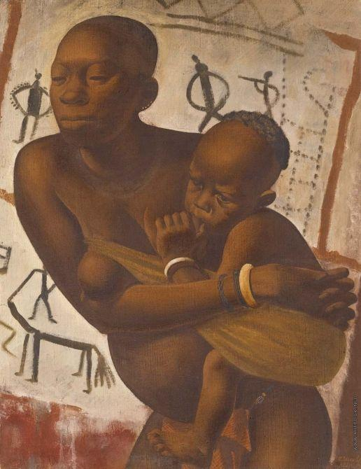 Banda Woman with a Child  - Alexandre Jacovleff