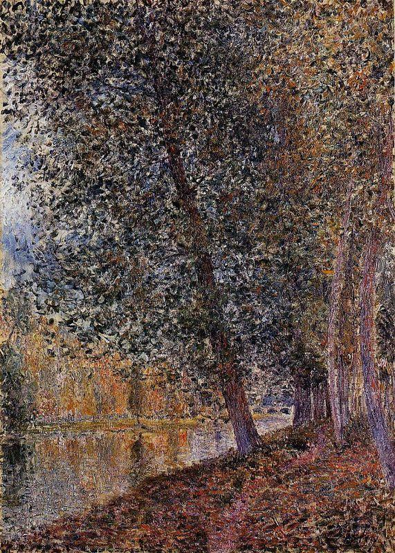 Banks of the Loing, Autumn - Alfred Sisley
