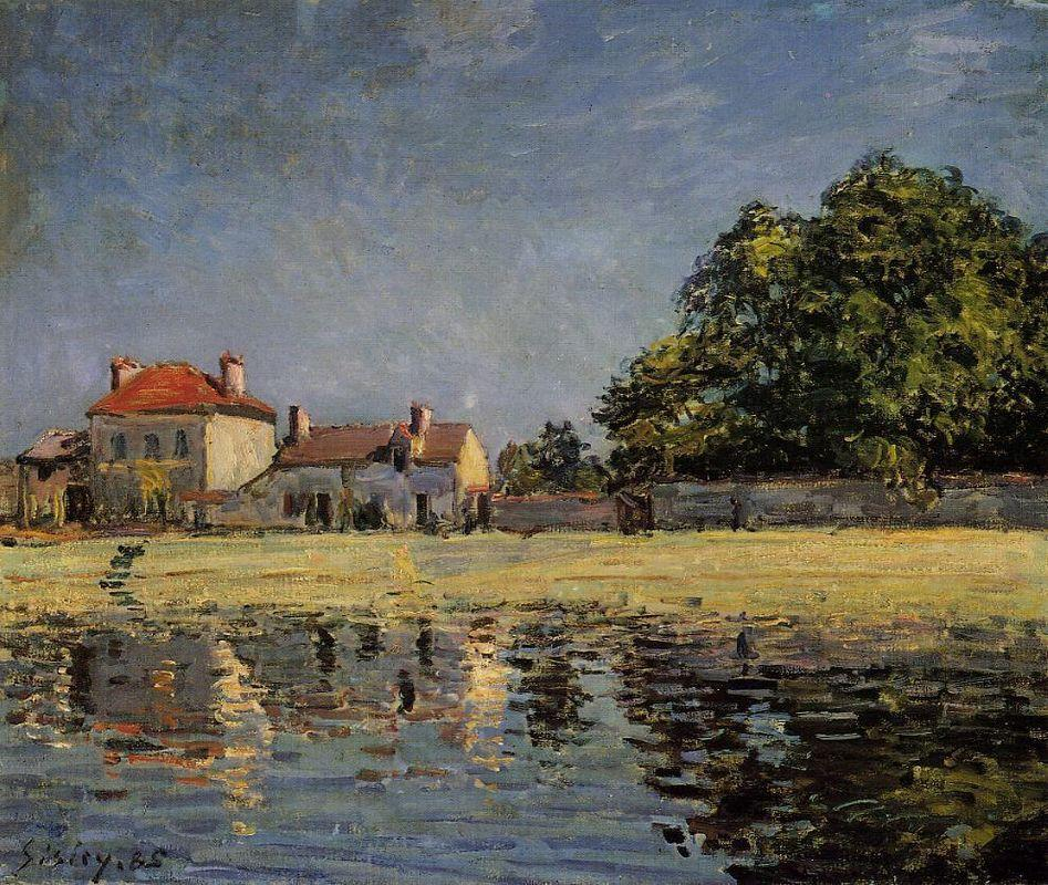 Banks of the Loing, Saint Mammes - Alfred Sisley