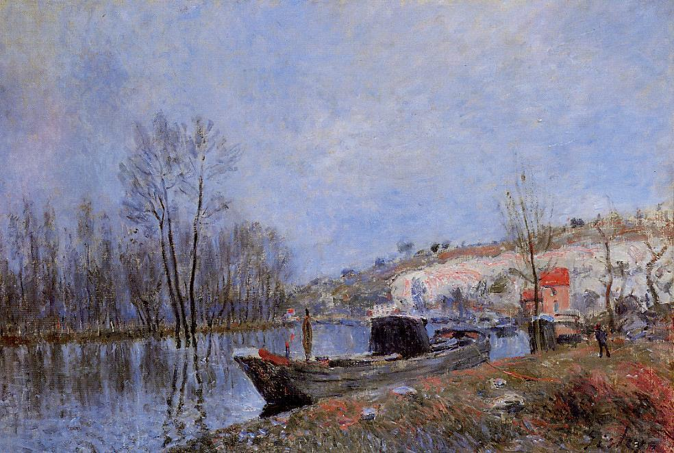 Banks of the Loing towards Moret - Alfred Sisley