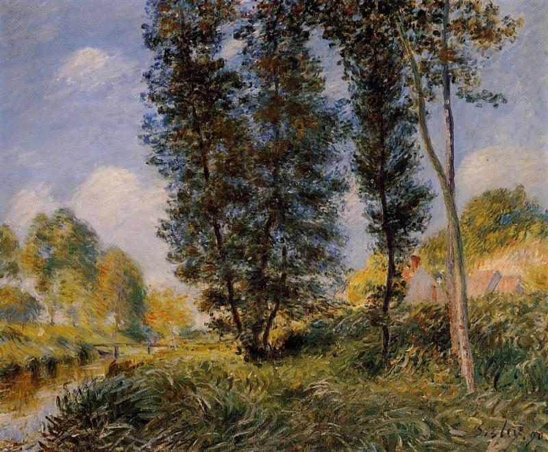 Banks of the Orvanne - Alfred Sisley