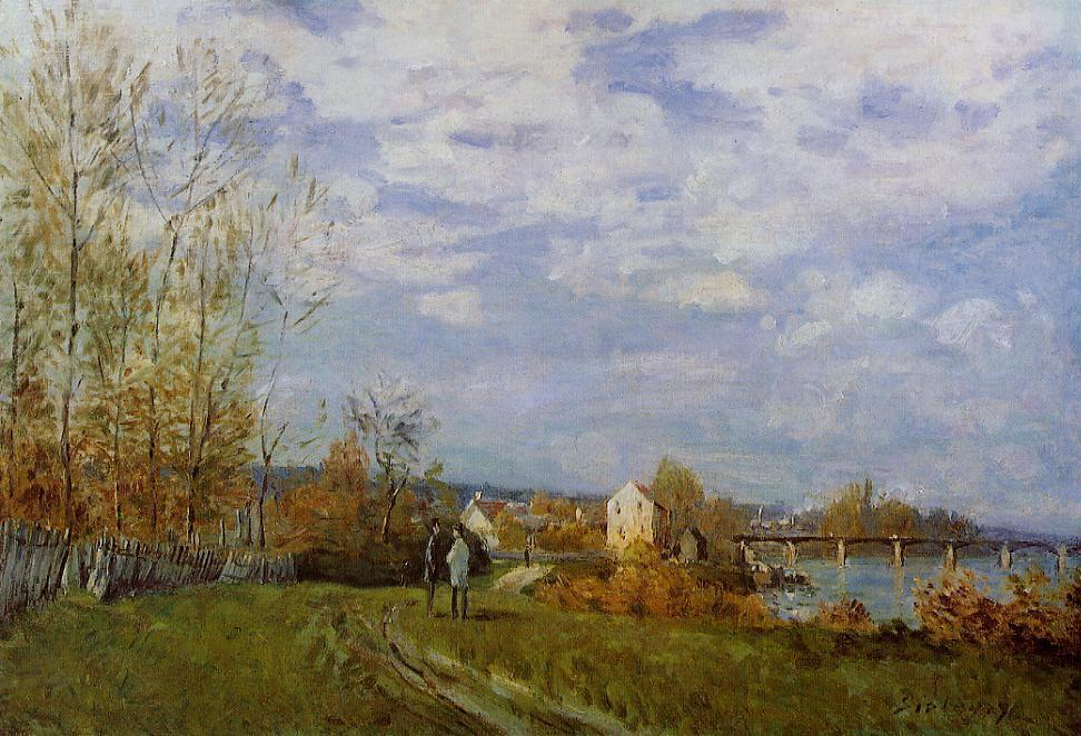 Banks of the Seine at Bougival - Alfred Sisley