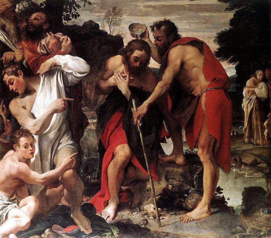 Baptism of Christ - Annibale Carracci