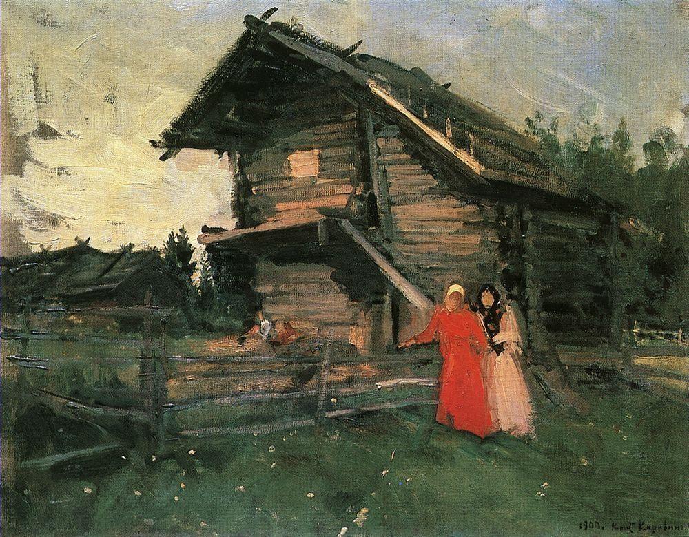 Barn  - Konstantin Korovin