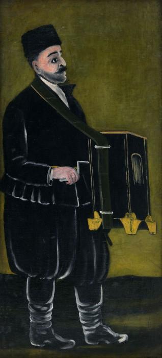 Barrel Organ Player - Niko Pirosmani
