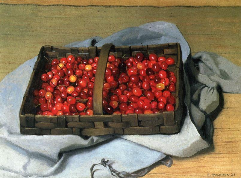 Basket of Cherries - Felix Vallotton