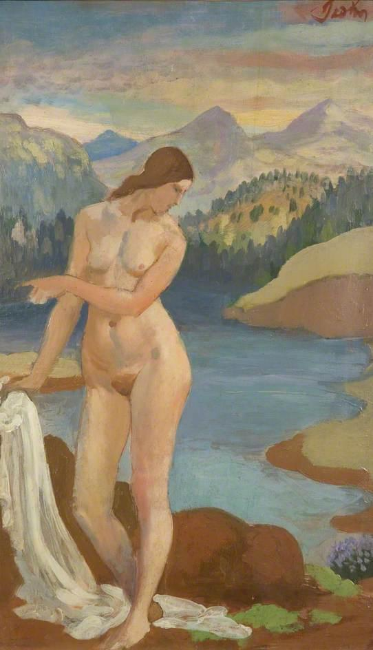 Bather in the Welsh Mountains - Augustus John