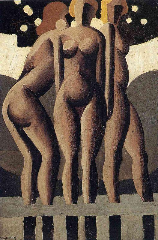 Bathers - Rene Magritte