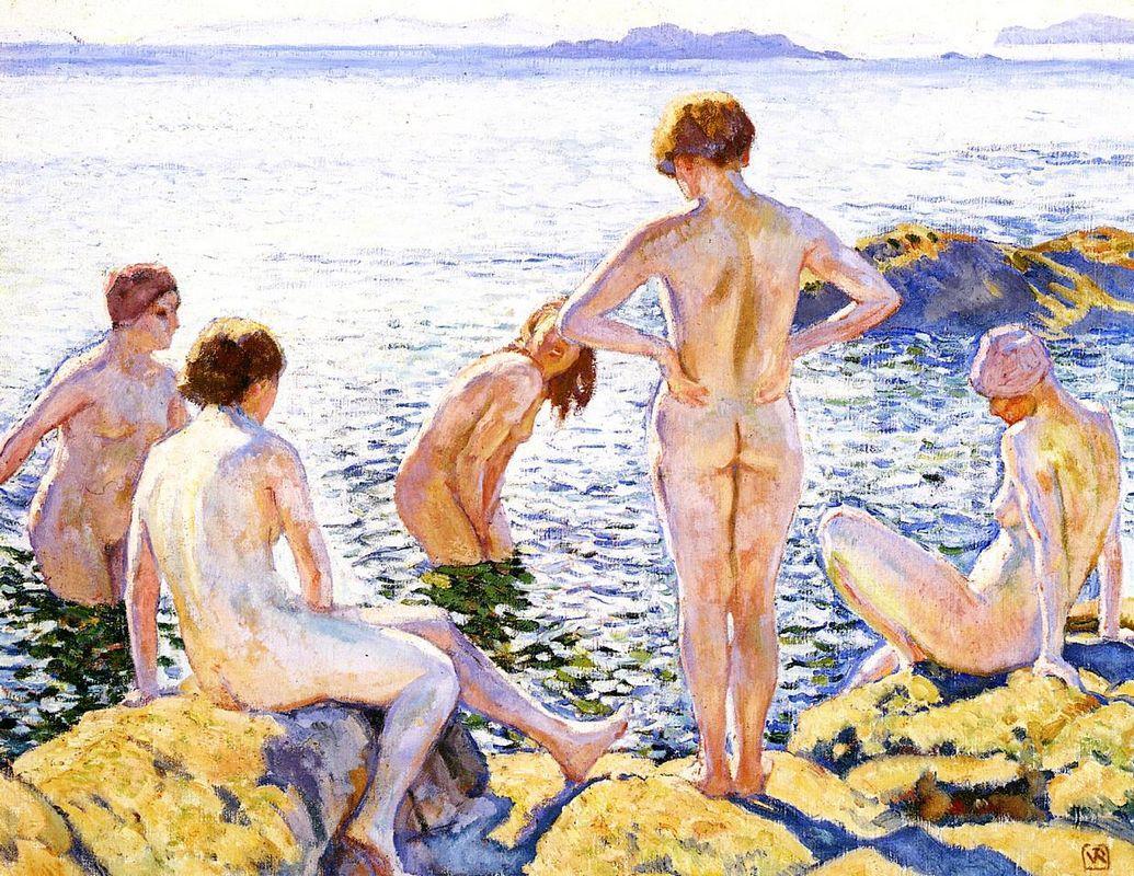 Bathers - Alexey Venetsianov