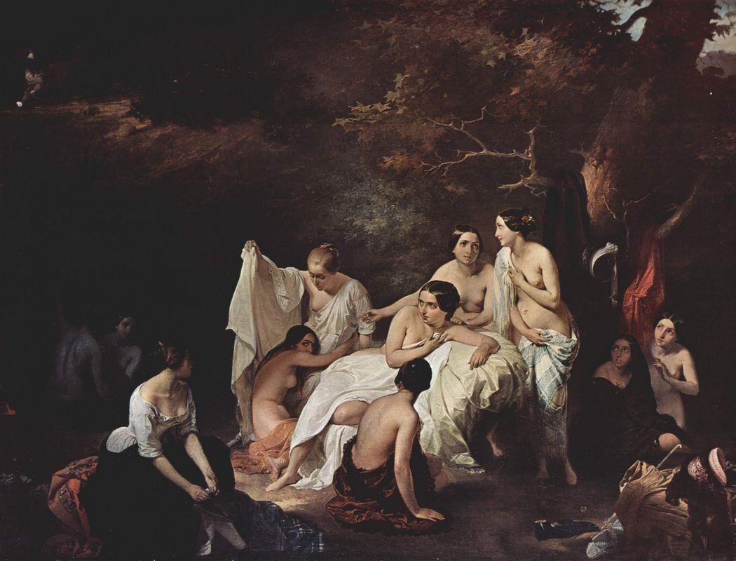 Bathing nymphs - Francesco Hayez