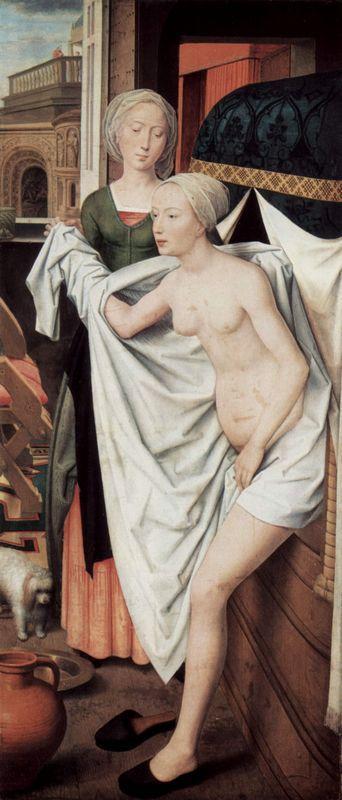 Bathsheba in the bath - Hans Memling
