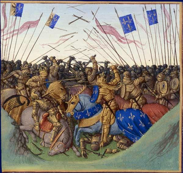 Battle of Fontenoy-en-Puisaye in 841 - Jean Fouquet