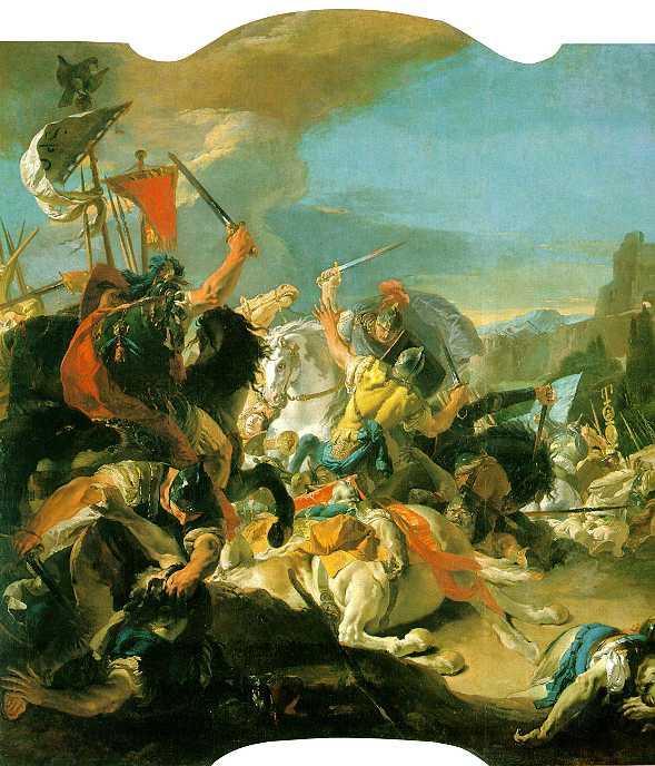Battle of Vercellae - Giovanni Battista Tiepolo