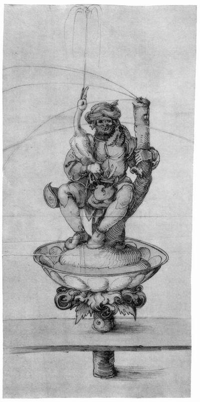 Bauer goose with a fountain figure - Albrecht Durer