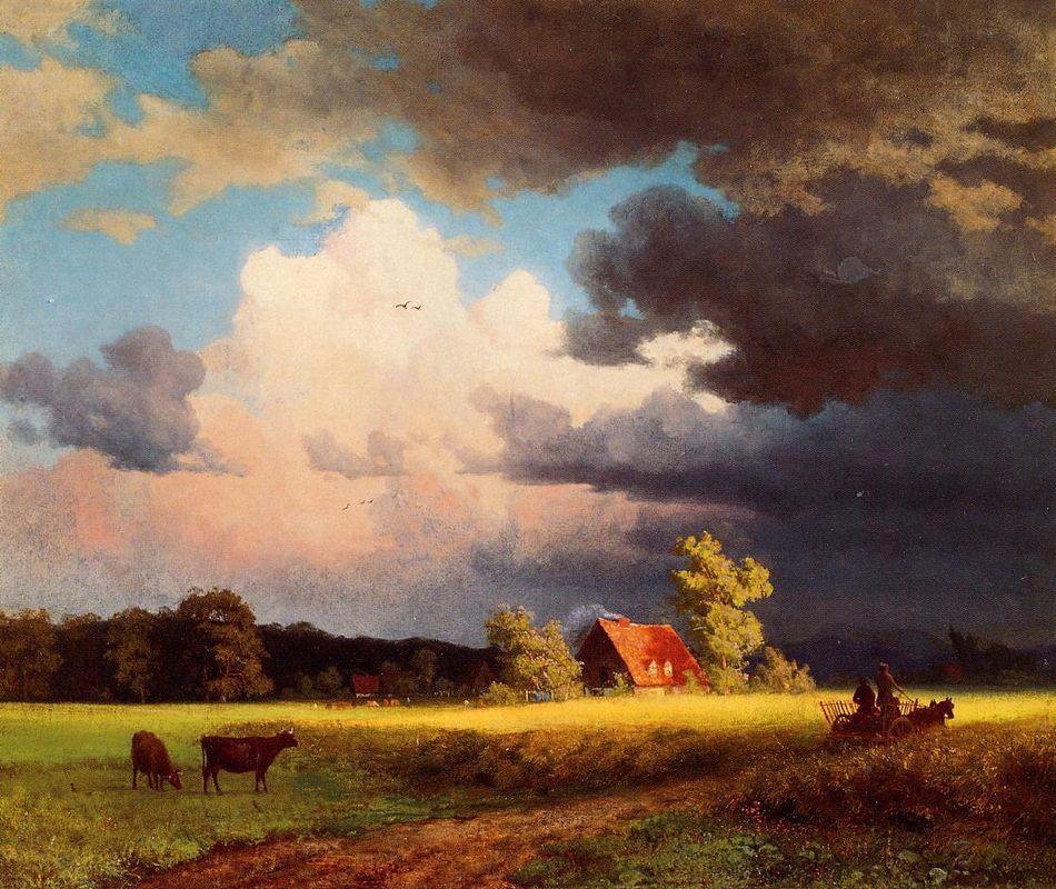 Bavarian Landscape - Albert Bierstadt