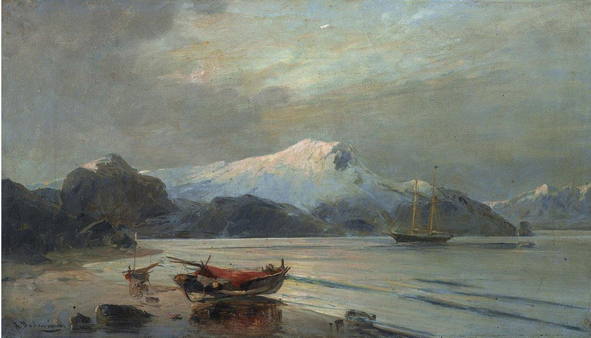 Bay with boats - Konstantinos Volanakis