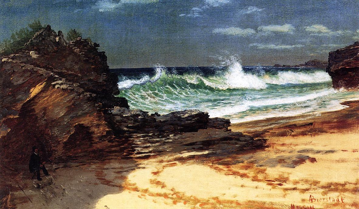 Beach at Nassau - Albert Bierstadt