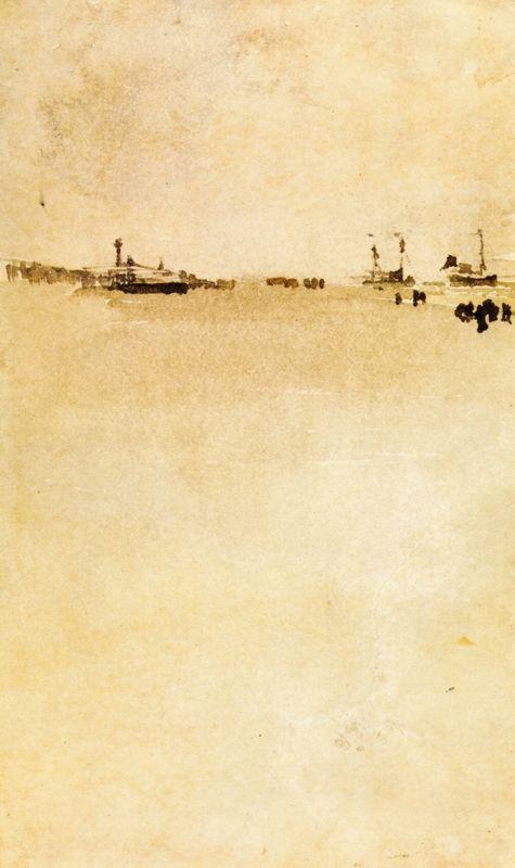 Beach Scene - Albert Bierstadt