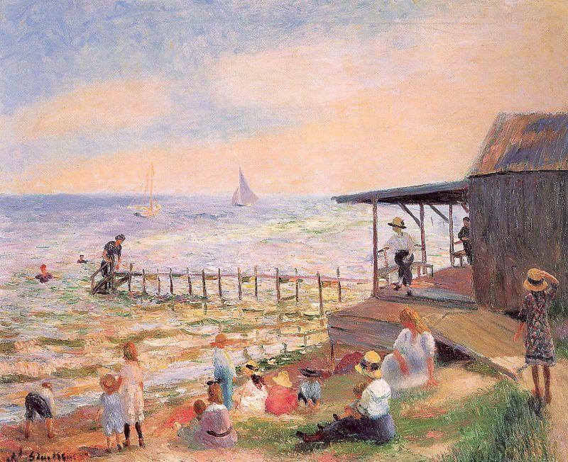 Beach side - William James Glackens