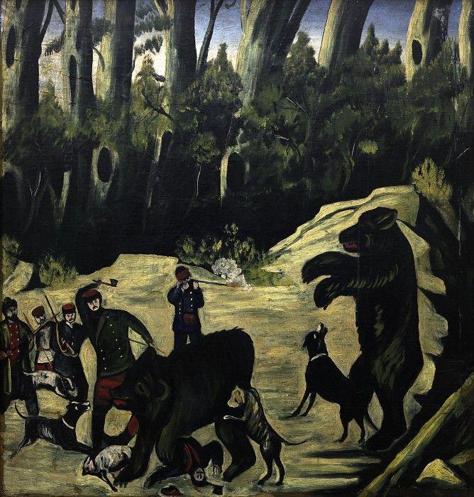 Bear hunting - Niko Pirosmani