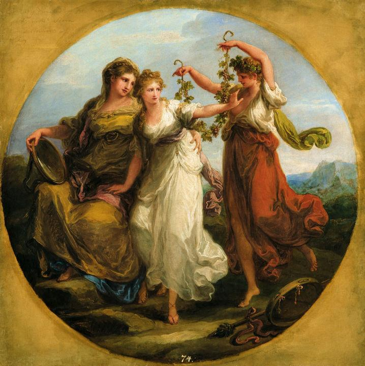 Beauty, supported by Prudence, Scorns the Offering of Folly - Angelica Kauffman