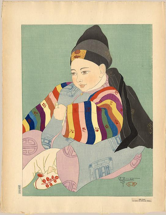 Bebe Coreen En Costume De Ceremonie. Seoul - Paul Jacoulet