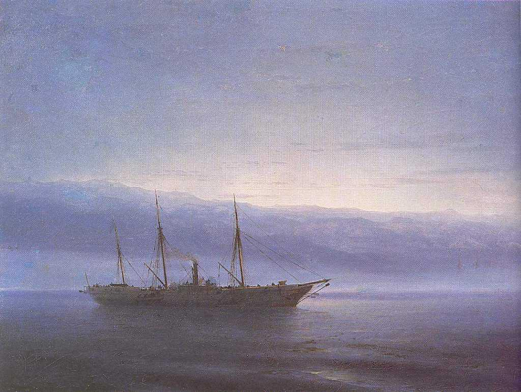Before battle. Ship. Constantinople - Ivan Aivazovsky