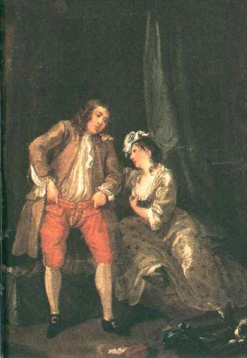 Before the Seduction and After - William Hogarth