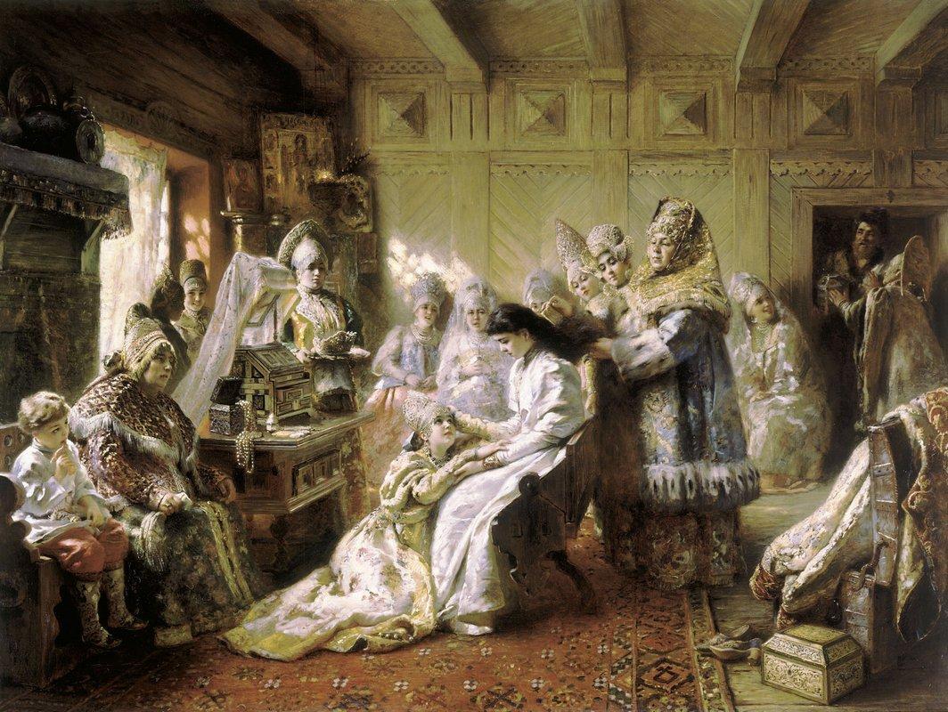 Before the Wedding - Konstantin Makovsky