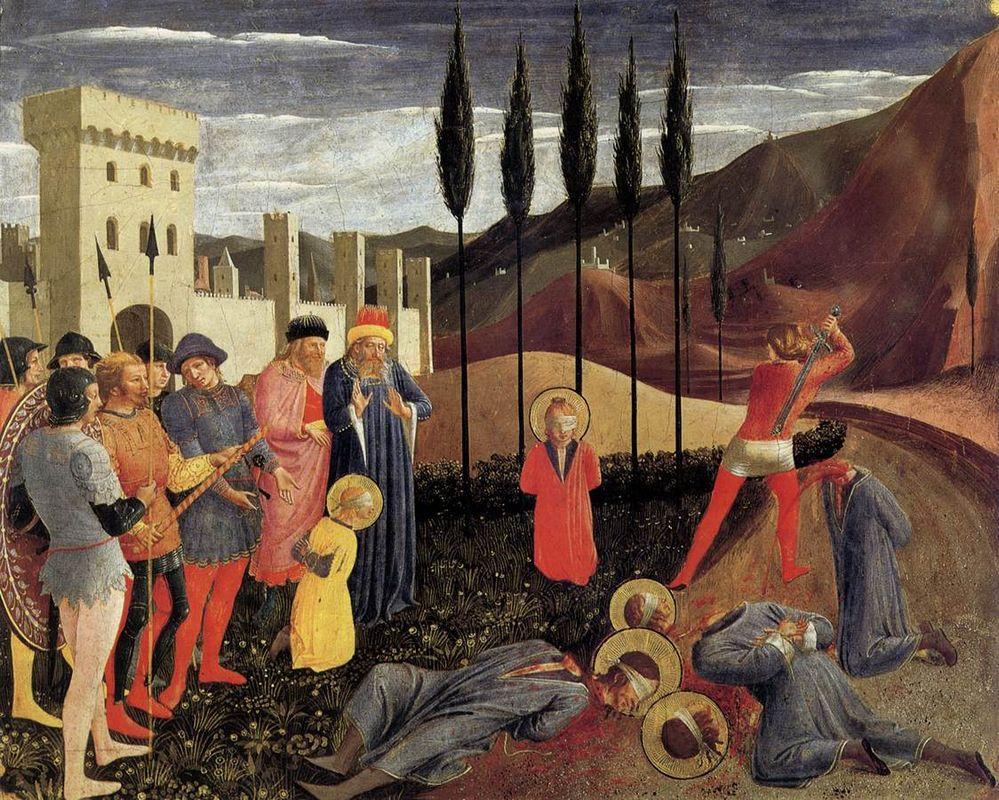 Beheading of Saint Cosmas and Saint Damian - Fra Angelico