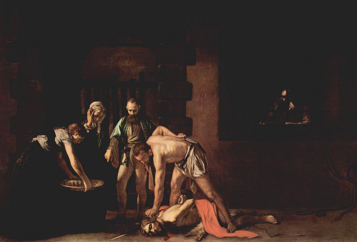 Beheading of Saint John the Baptist - Caravaggio