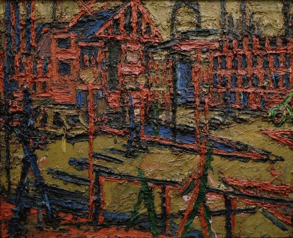 Behind Camden Town Station, summer evening - Frank Auerbach