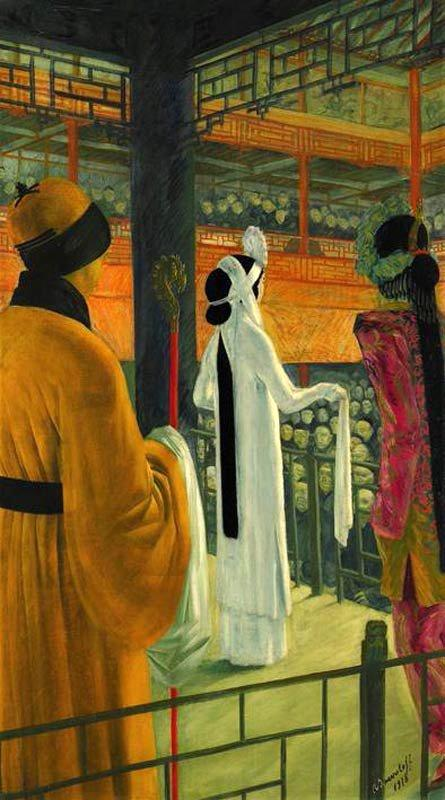 Beijing Opera - Alexandre Jacovleff