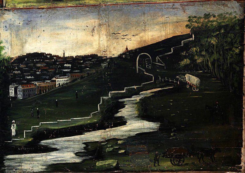 Belakani (part of Tapestry in six paintings) - Niko Pirosmani