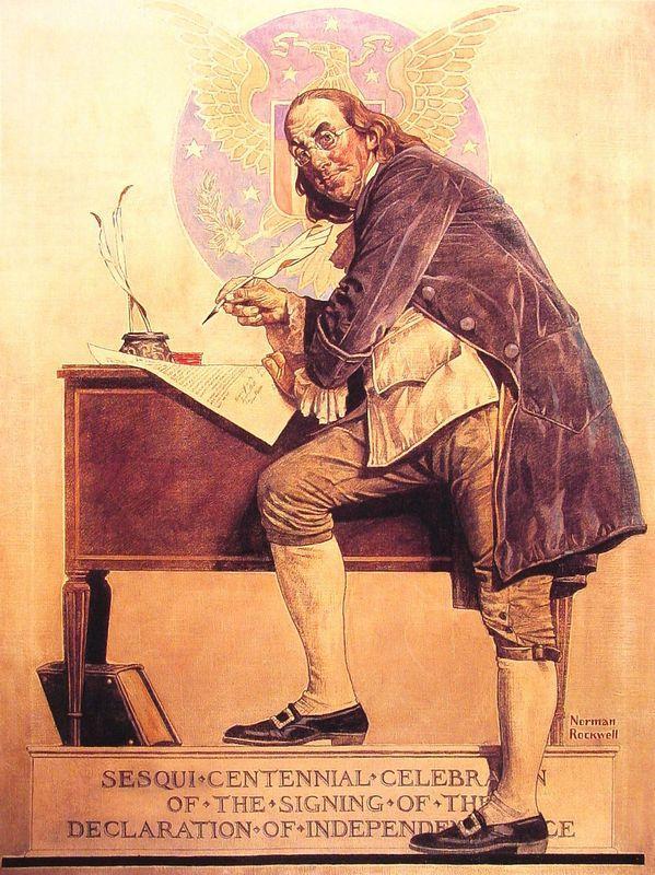 Ben Franklin's Sesquicentennial - Norman Rockwell