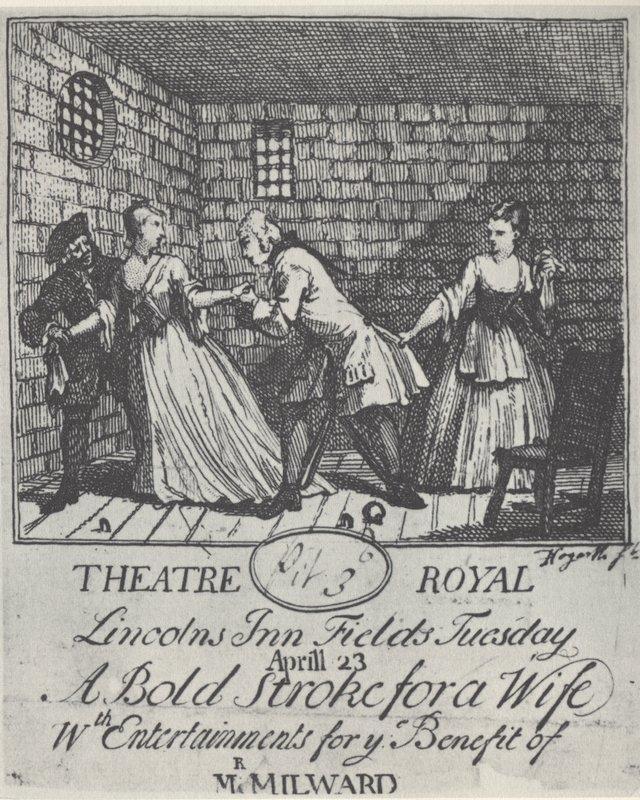 Benefit ticket (Mr  Milward)' A Bold Stroke for a Wife - William Hogarth