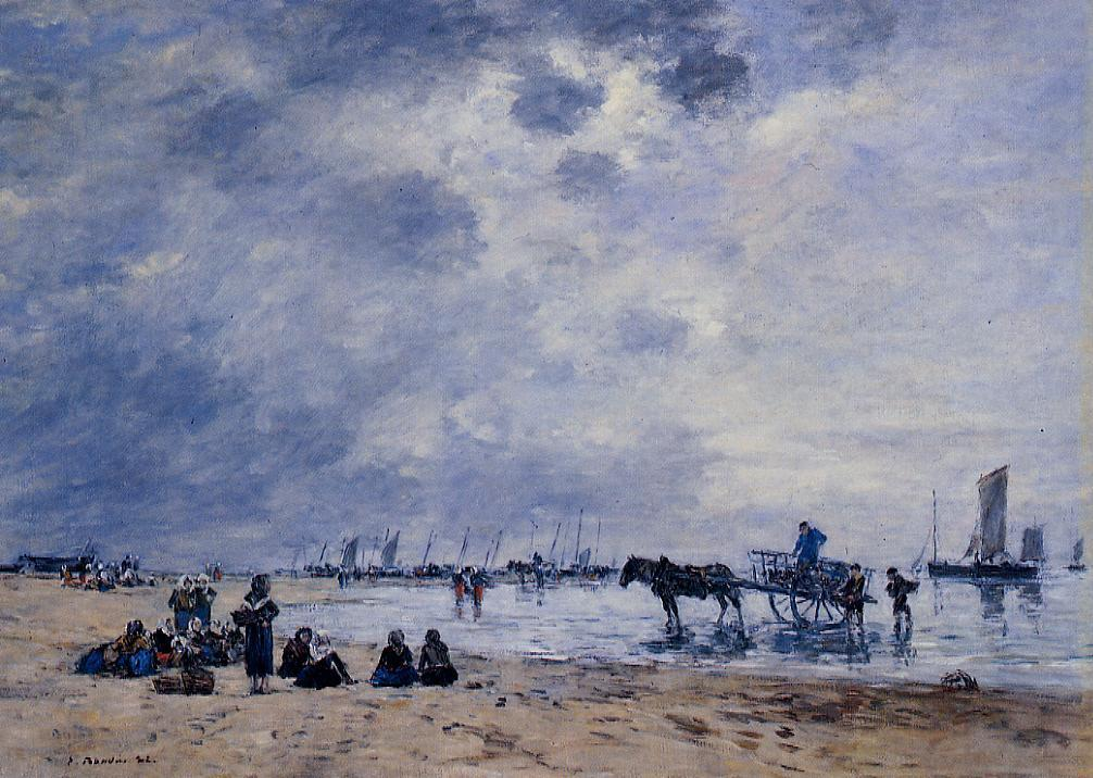 Berck, the Arrival of the Fishing Boats - Eugene Boudin