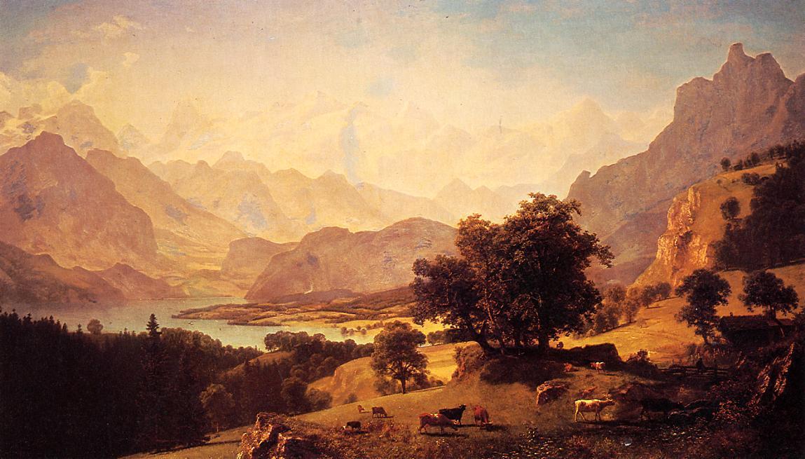 Bernese Alps, as Seen near Kusmach - Albert Bierstadt