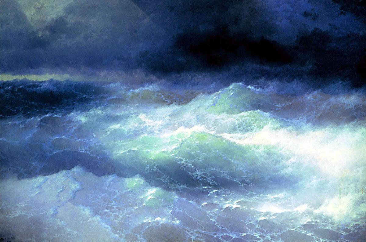 Between the waves - Ivan Aivazovsky