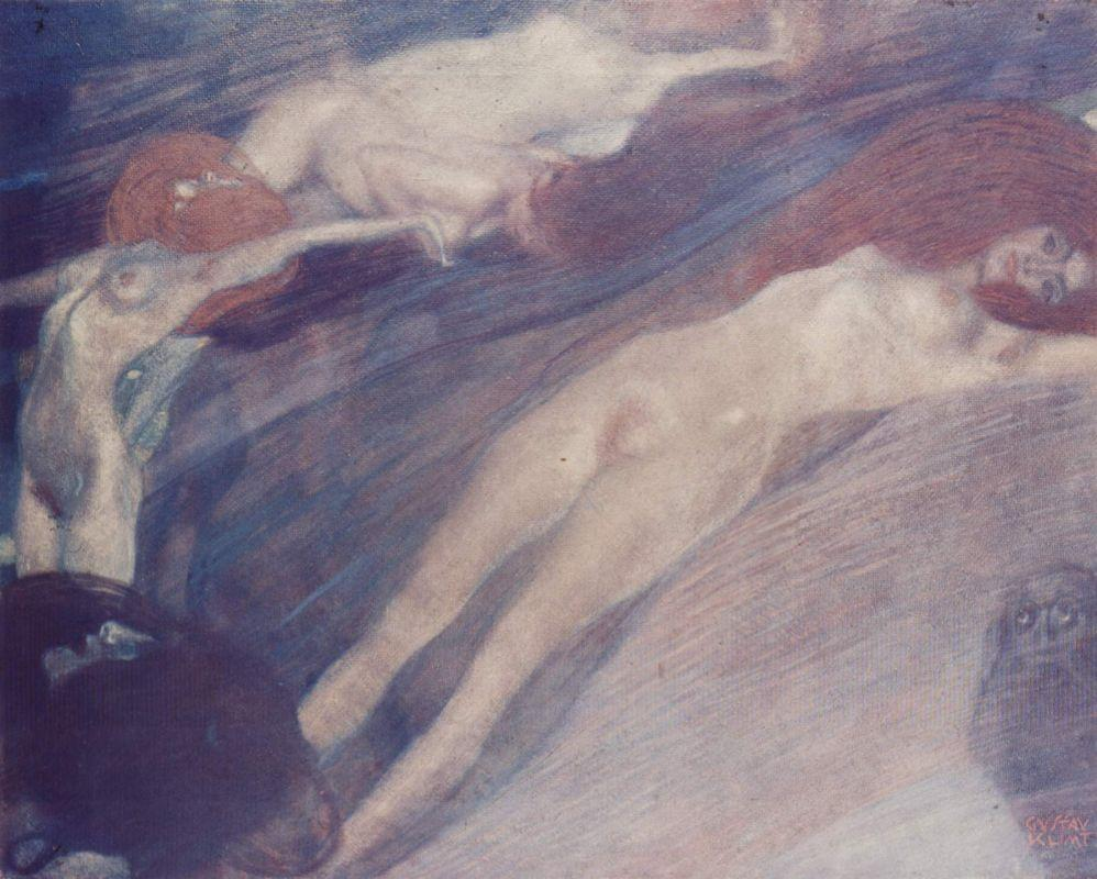 Bewegte Wasser - Gustav Klimt