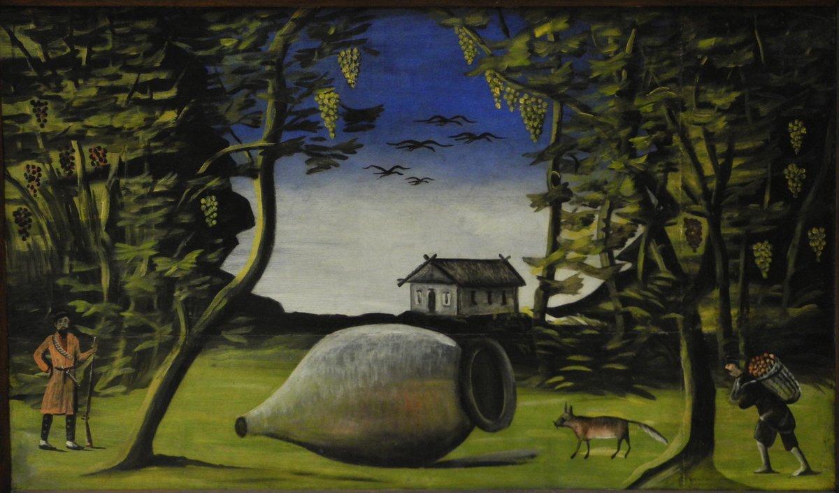 Big Marani in the forest - Niko Pirosmani