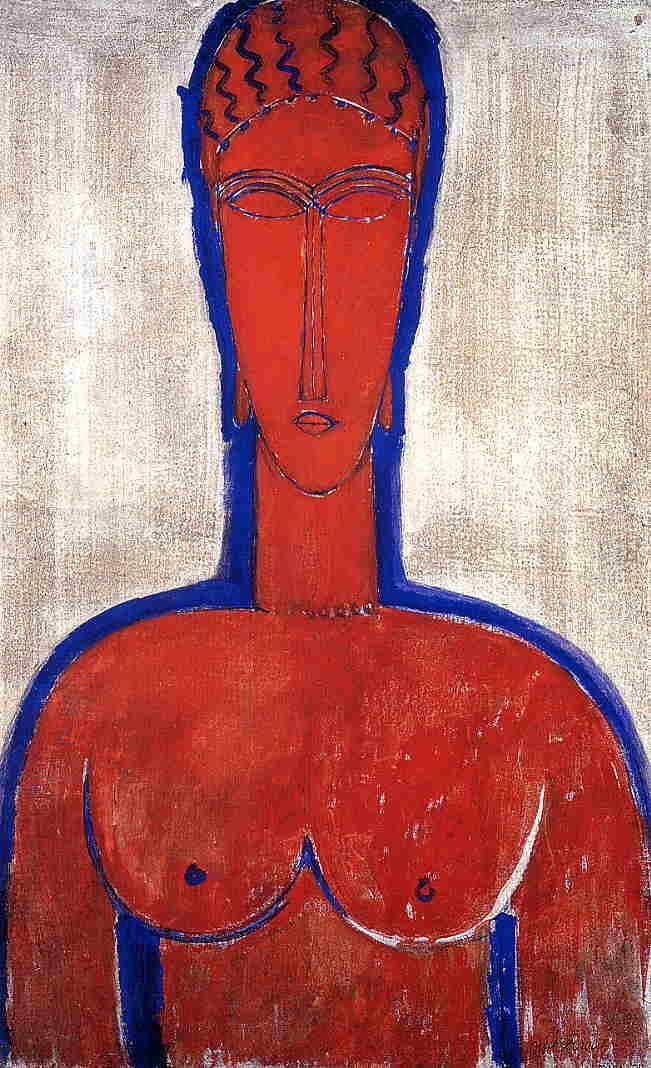 Big Red Buste (Leopold II) - Amedeo Modigliani