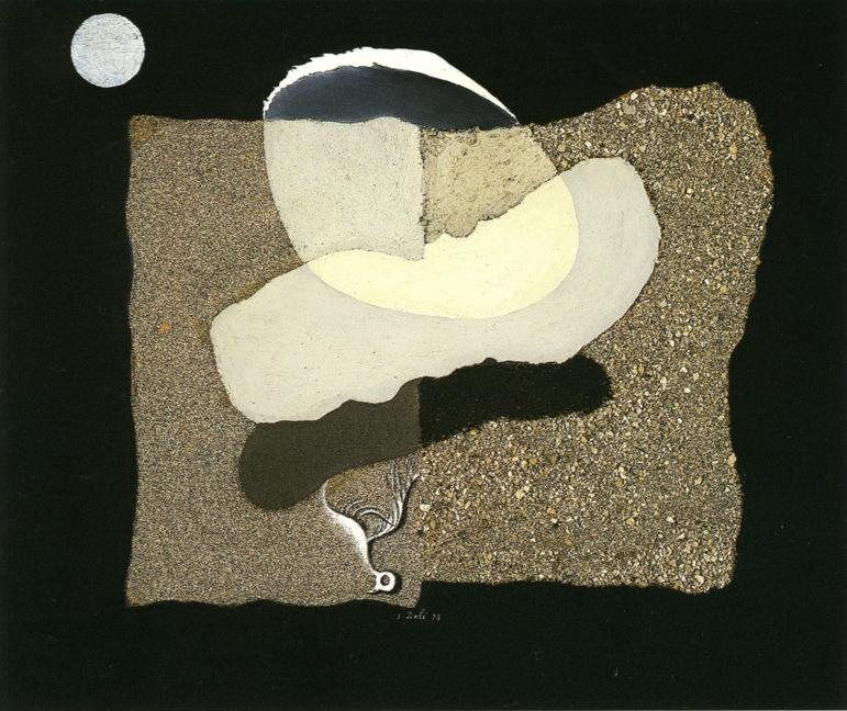 Big Thumb. Beach. Moon and Decaying Bird - Salvador Dali