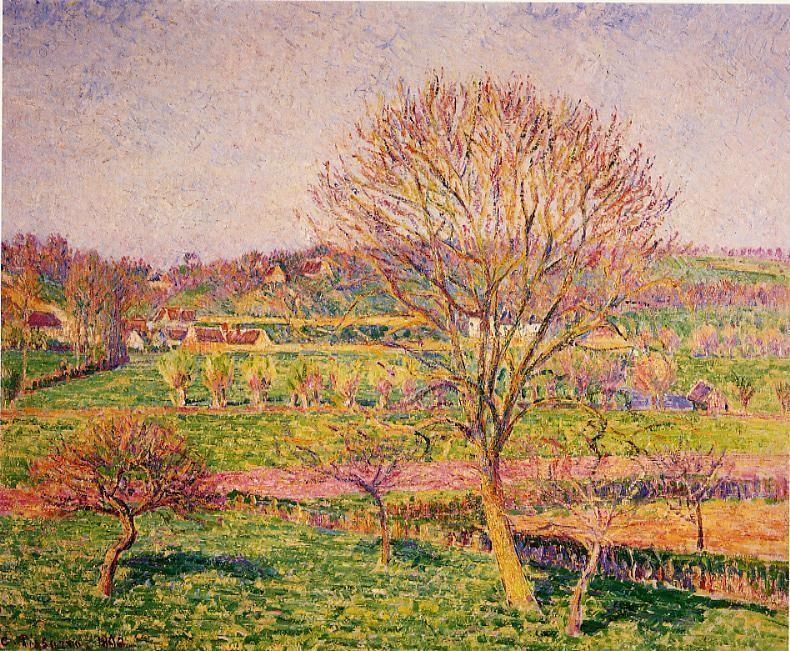 Big Walnut Tree at Eragny - Camille Pissarro